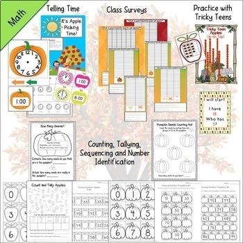 Apples and Pumpkins Units Bundle {CCSS Math, ELA, Science, Social Studies}