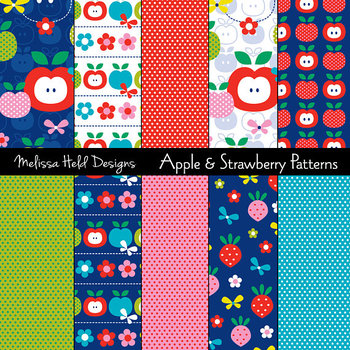 Apple and Strawberry Patterns