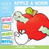 Apple and Worm Paper Craft and Writing