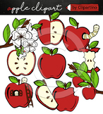 Apple clipart Bundle +black white