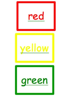 Apples color words book