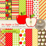 Apple digital paper and clipart