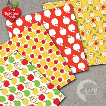 Apple Digital Papers, Apple Picking, Fall Backgrounds, AMB-136