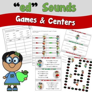 Apple ed Ending Sounds Games and Centers