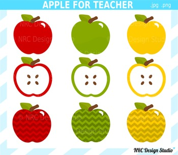Apple for Teacher Clip Art - Personal and Commercial Use OK
