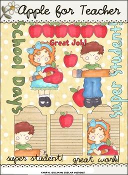 Apple for Teacher Clipart Collection