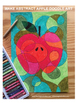 End of year fun art activity 'Apple for Teacher' card & classroom decor