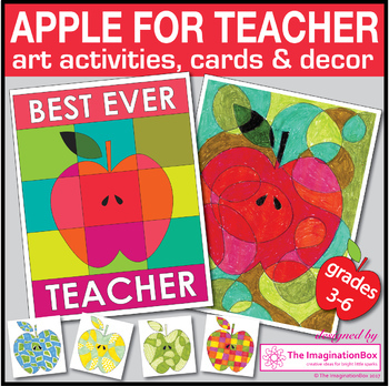 End of Year Coloring Pages - Apple Art Activity