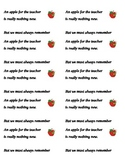 Apple for the Teacher Labels