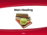 Apple for the Teacher PowerPoint Presentation Design
