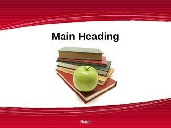 Apple For The Teacher Powerpoint Presentation Design