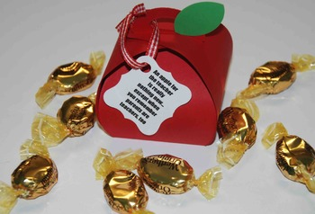 Apple gift for Open House, Parent teacher conferences, Christmas (Set of 12)