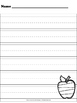 Apple handwriting paper (Johnny Appleseed)