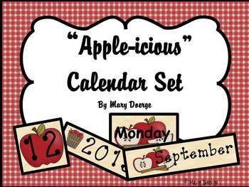 """Apple-icious"" Calendar Set"