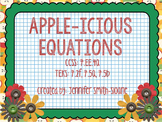 Apple-icious Equation Word Problems Task Cards