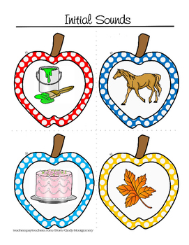 Apple'licious Activities - Initial Sounds