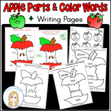 Labeling Apple Parts and Apple Color Words Activities