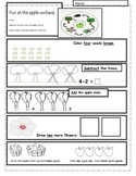 Apple life cycle and math activity