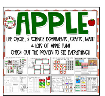 Apple life cycle, science experiments, math, language arts, and more