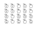 Apple missing number worksheet