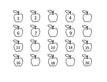 Apple missing number worksheet by HeadStart teacher | TpT
