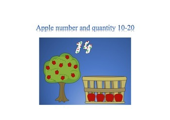 Apple number and quantity 10-20