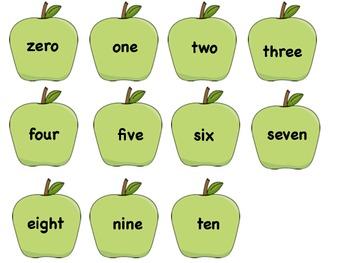 Apple Number Match File Folder Game