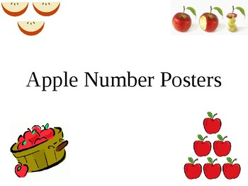 Apple number posters