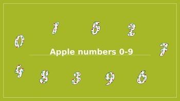 Apple numbers 0-9