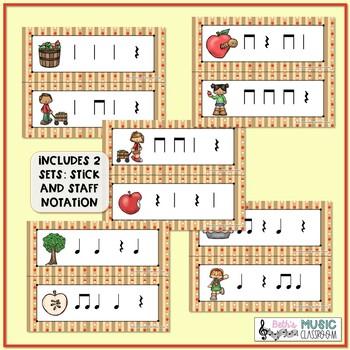 Apple of My Eye! Scavenger Hunt: Write the Room Rhythms - Practice Ta Rest