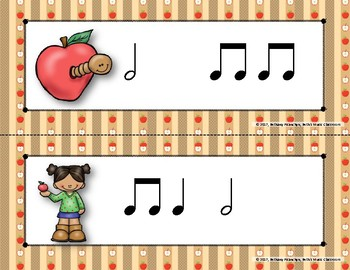 Apple of My Eye! Scavenger Hunt: Write the Room Rhythms - Practice Ta-a