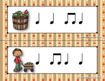 Apple of My Eye! Scavenger Hunt: Write the Room Rhythms - Practice Ta ti-ti