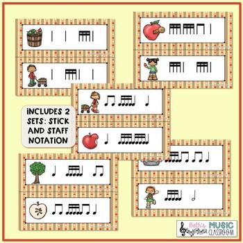Apple of My Eye! Scavenger Hunt: Write the Room Rhythms - Practice Tika-tika