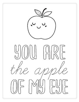 Apple of My Eye - coloring page