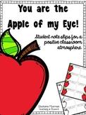 Apple of my Eye Positive Behavior Slips