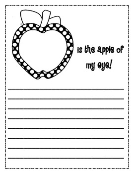 Apple of my Eye Writing Prompt