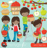 Apple picking clipart commercial use, vector graphics, digital - CL691
