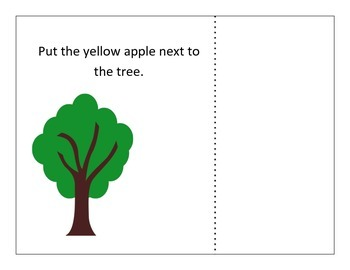 Apple positions! Fall Spatial Basic Concept Activity