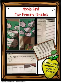 Apple reading, writing, and science unit