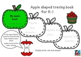 Apple shaped tracing book for K-1 Autumn Writing Fun For Littlies