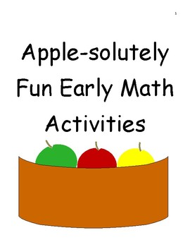 Apple-solutely Fun Early Math Activties