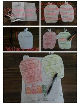 Apple tasting mini-book and graph