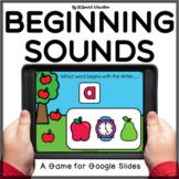 Apple theme beginning sound review Google Slides activity | Alphabet letters