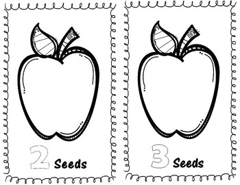 Apple theme unit, counting book, color word emergent reader, apple art,