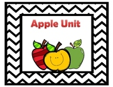Apple theme unit, counting book, color word emergent reade