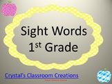 Apple themed 1st Grade Sight Words