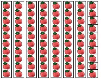 Apple themed Base Ten Place Value Activity. Kindergarten-2nd Grade Math.