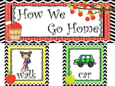 Apple themed How We Go Home Chart. Classroom  Management.