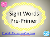 Apple themed Pre Primer Sight Words