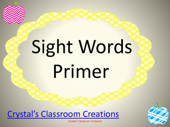 Apple themed Primer Sight Words